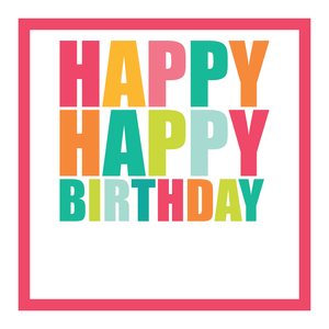 Happy Birthday (Peachy Pastel) Gift Stickers