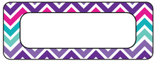 Load image into Gallery viewer, Purple Pink Chevron Waterproof Labels