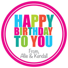 Load image into Gallery viewer, Happy Birthday (Pink) Gift Stickers
