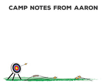 Load image into Gallery viewer, Archery Unlined Camp Notecards