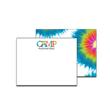 Load image into Gallery viewer, Tie Dye Bright Unlined Camp Notecards