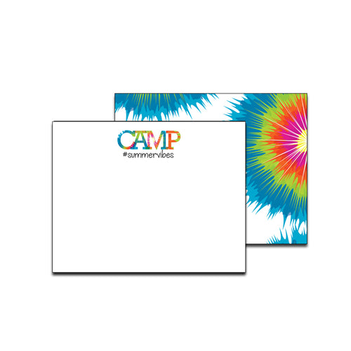 Tie Dye Bright Unlined Camp Notecards