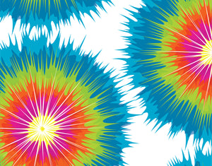 Tie Dye Bright Fill-In Blank Camp Notecards