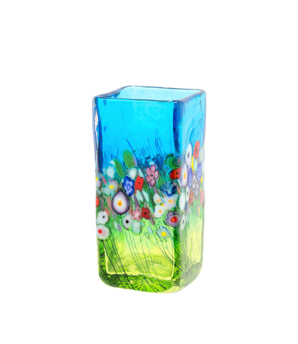 Flower Bouquet, Square Vase
