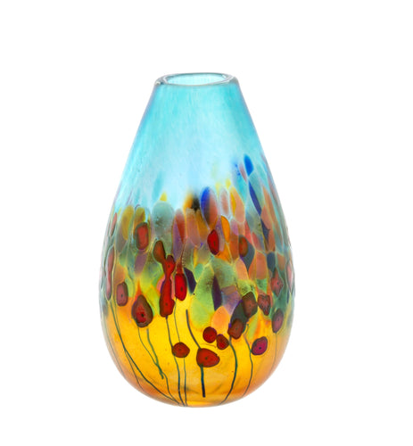 California Poppy, Teardrop Vase