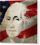 George Washington American Patriot  - Canvas Print