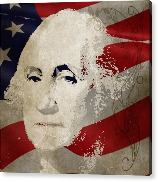 George Washington American Patriot  - Acrylic Print