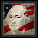 George Washington American Patriot  - Framed Print
