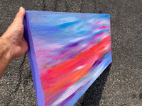 canvas sunset sky blue baby blue purple violet online gallery panel sky water beach blue colors art modern abstract paintings original art online gallery rodmodern black and white color new york los angeles miami saatchiart saatchi vango art wall art colorful  gallery wrap sale cheap art