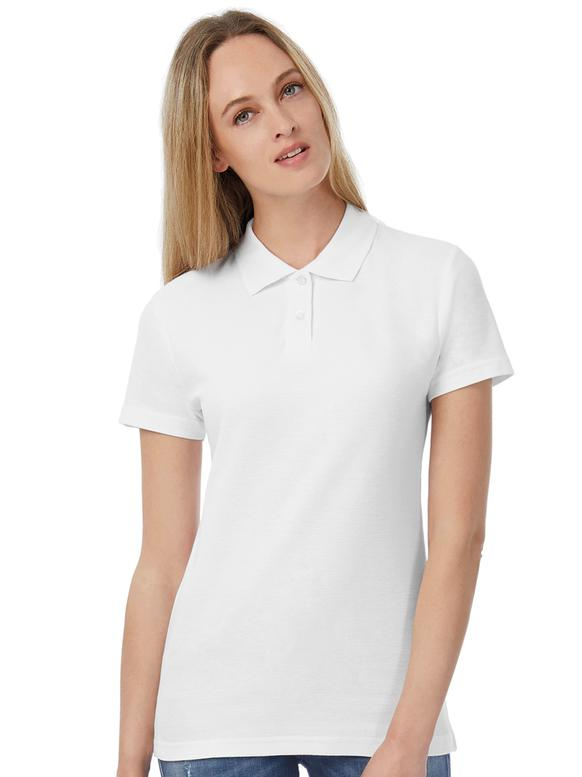 Frau mit Corporate Fashion, Corporate Wear oder Corporate Kleidung Polo Shirt