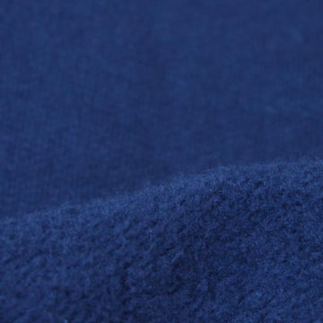 Heavy organic cotton fabric washed fleece dark sapphire 19-19.5 oz