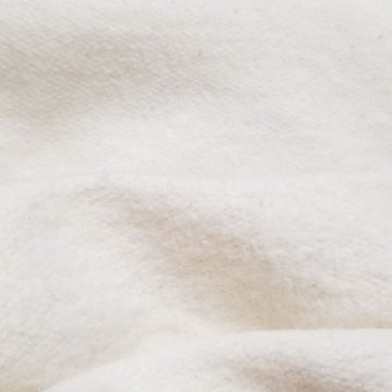 Hemp organic cotton fabric washed fleece natural 11.5-12 oz