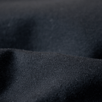 Organic cotton spandex jersey black 11.5-12 oz