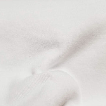 Organic cotton fabric washed jersey white 7-7.5 oz