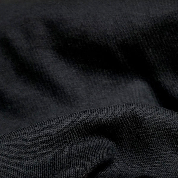Organic cotton fabric washed jersey natural or black 8.5-9 oz