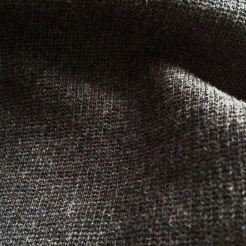 Organic cotton fabric washed italian pique charcoal 12-12.5 oz
