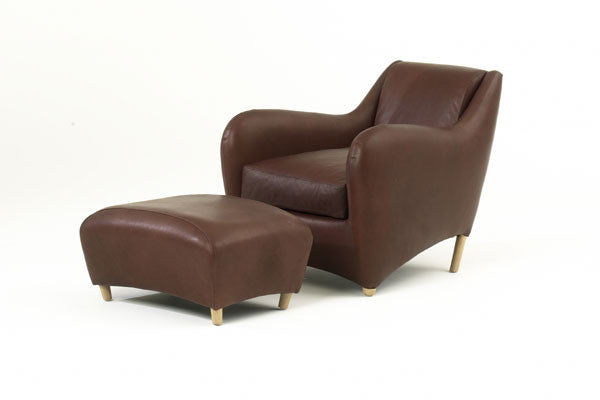 Balzac armchair and ottoman designed by Matthew Hilton for SCP