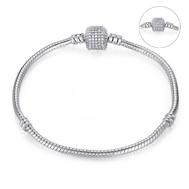 0813f87cc61 Authentic Silver Plated Charm Bracelet – Infinity Goods