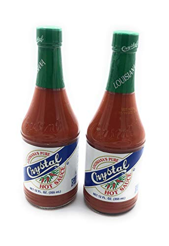 Crystal Louisiana's Pure Hot Sauce, 12 fl oz (Pack of 2)