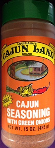 Cajun Land Creole Cajun Seasoning with Green Onions 15 Oz