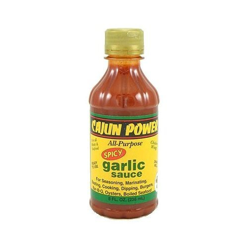 Cajun Power, Sauce Garlic Spicy, 8-Ounce (12 Pack)