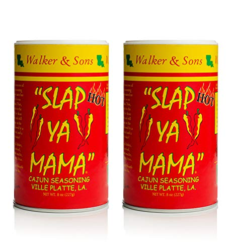 Slap Ya Mama Louisiana Style Cajun Seasoning, Hot Blend, MSG Free and Kosher, Pack of 2