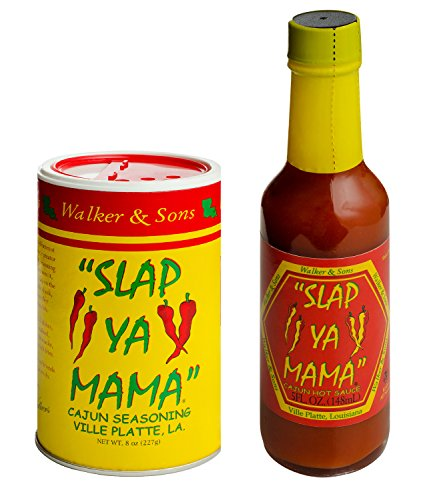 Slap Ya Mama Louisiana Style Variety Pack, Cajun Original Blend Spice Mix 8 Ounce Can and Jalapeno Hot Sauce 5 Ounce Bottle
