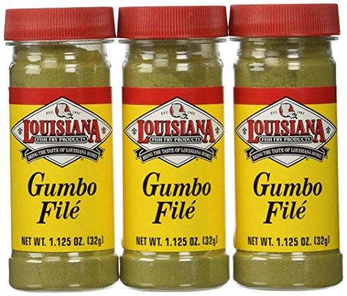 Louisiana Fish Fry Gumbo File Powder-3 (THREE) 1.1oz Bottles