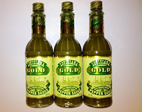 Louisiana Gold Green Sauce with Tobasco Peppers 5oz (pack of 3)
