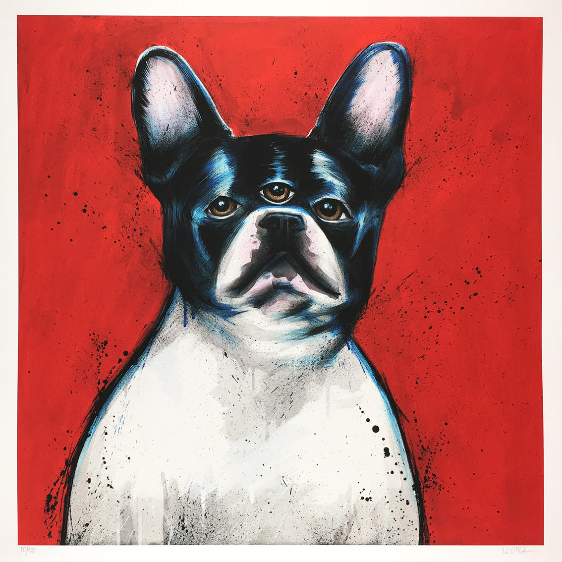 He Knows - Three Eyed French Bulldog Print