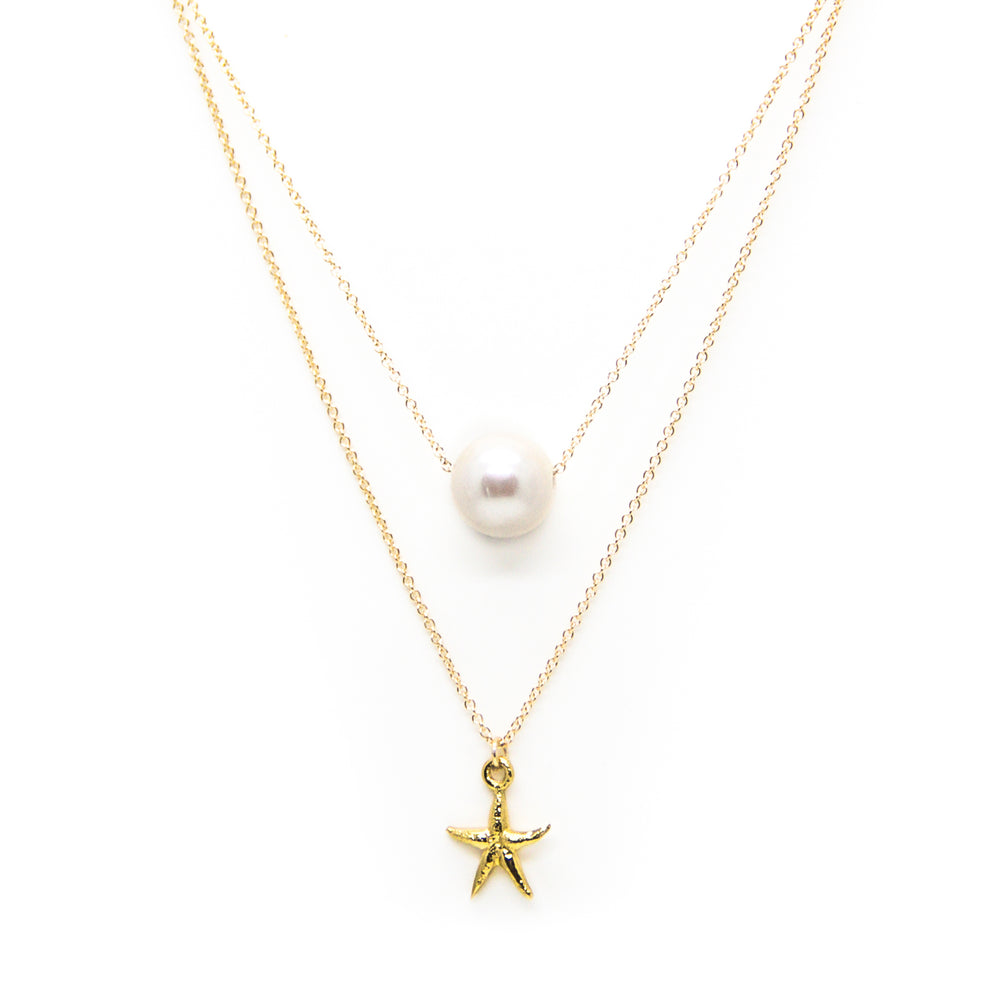 White Pearl and Starfish