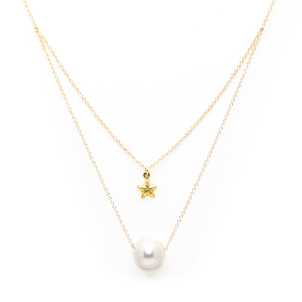 Mini Starfish and White Pearl