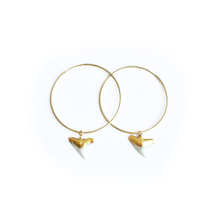 Shark Tooth Hoop Earrings