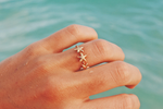 Three Starfish Ring