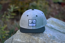 Load image into Gallery viewer, Gray Crosshatch Snapback Hat