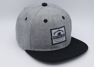 Gray Crosshatch Snapback Hat