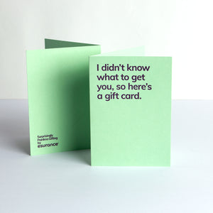 I Didn't Know What To Get You Card