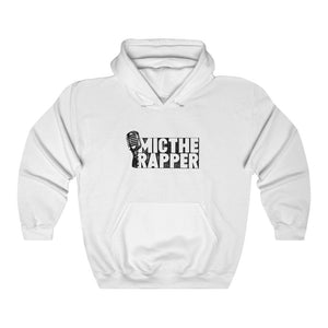 MIC The Rapper White Unisex Hoodie