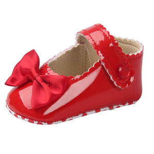 Girl infants shoes lovely Bowknot Leather 5 color