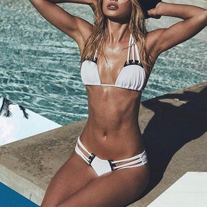 Classical Women Sexy Bandage Bikini Set Push-Up