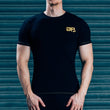 FormFitting mens Tops - Black & Yellow