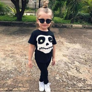 Newest Toddler Baby Boys Girls Skull Print Tops