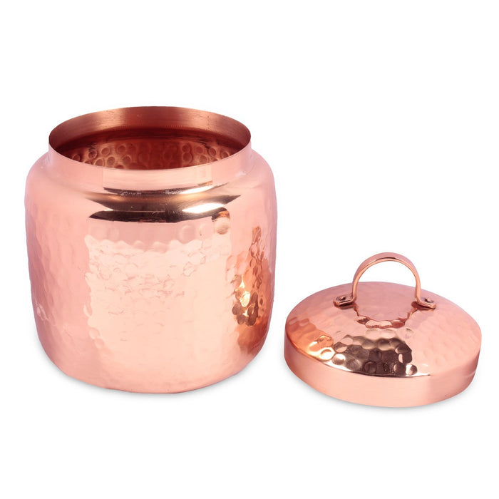 Hammered Copper Canister with Lid - Isha Life AU