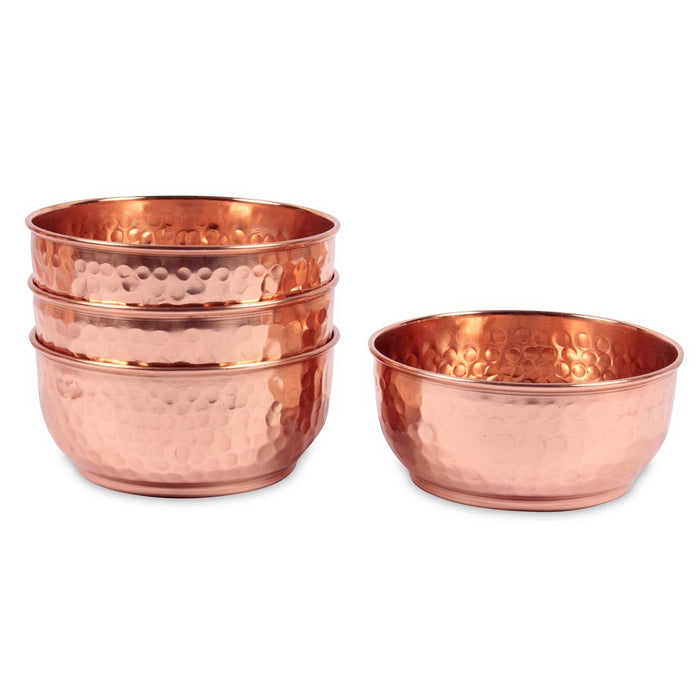 Set of 4 Copper Bowls and Tray - Isha Life AU