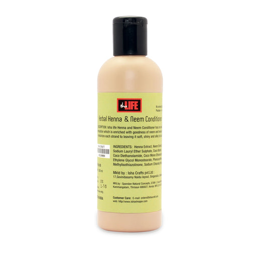 Herbal Henna & Neem Conditioner, 200 ml - Isha Life AU