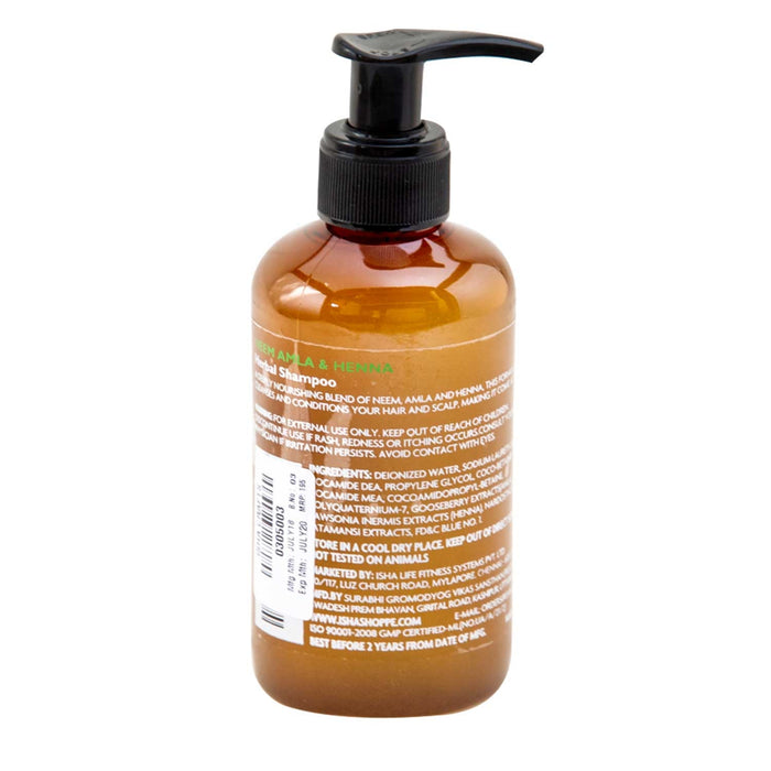 Neem Amla and Henna Herbal Shampoo, 200 ml - Isha Life AU