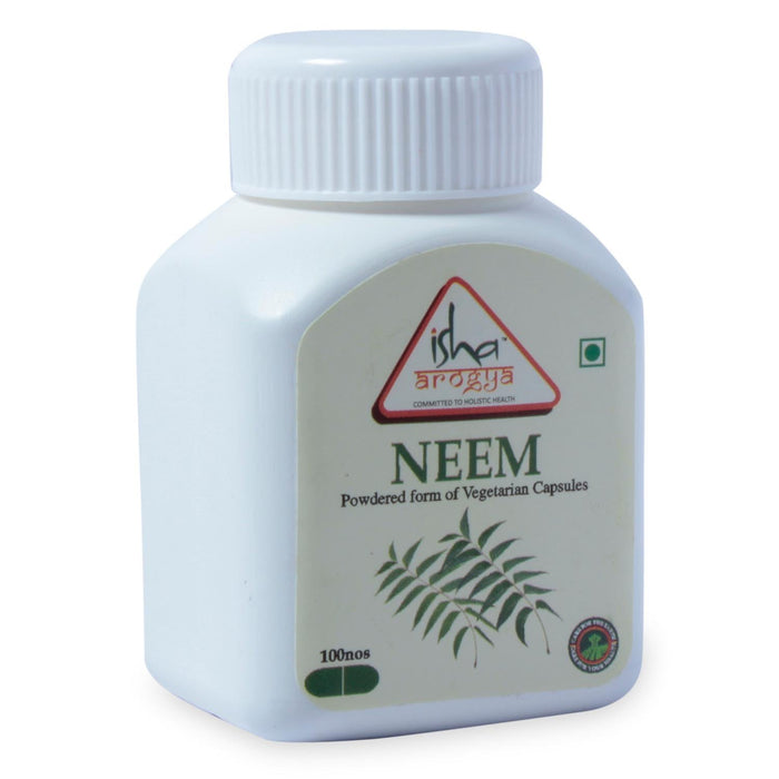 Neem Powder in Veg Caps, 100 pcs - Isha Life AU