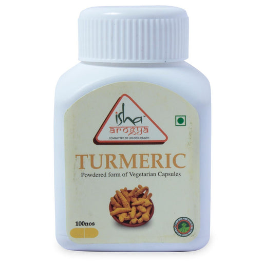 Turmeric Powder in Veg Caps, 100 pcs - Isha Life AU