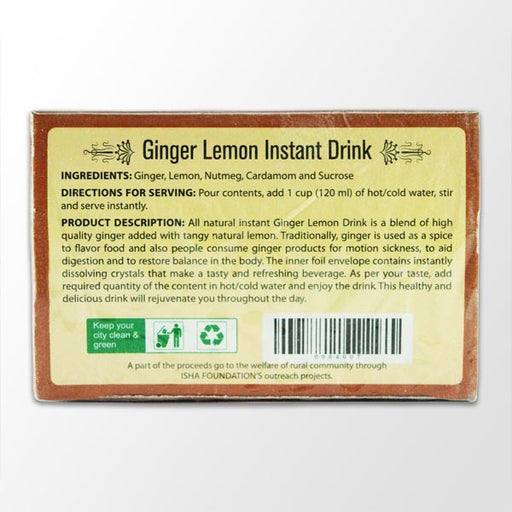Ginger Lemon Drink, 120 gm - Isha Life AU