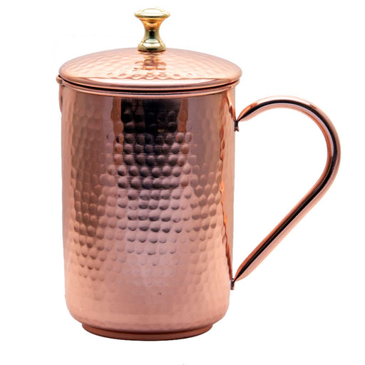 Copper Water Jug With Lid 1500 Ml - Isha Life AU